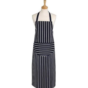 Apron - Butcher Stripe Navy (Long)