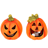 Gisela Graham - Halloween LED Pumpkin LED Ornament Small 2 Assorted