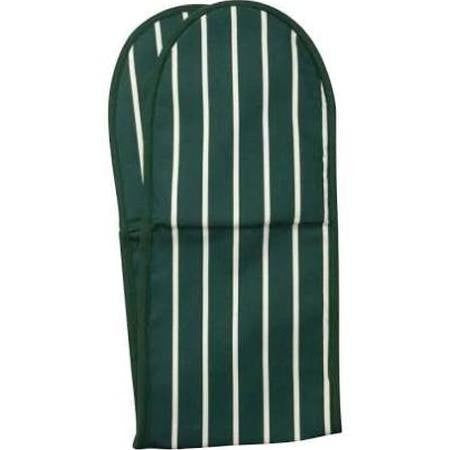 Double Oven Glove - Green Butchers Stripe