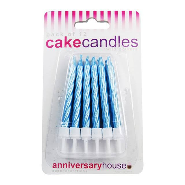 Anniversary House - Pearlescent Blue Candles