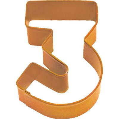 Anniversary House - Number 3 Cookie Cutter - Orange