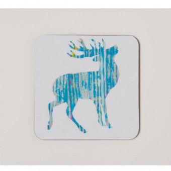 Chloe Gardner - Silvery Stag Square Coaster