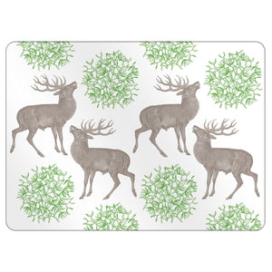 Thornback & Peel - Placemat Set of 4 - Stag & Mistletoe