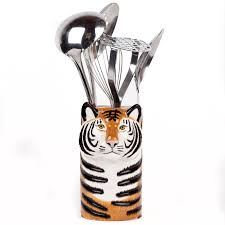 Quail Tiger Utensil Pot