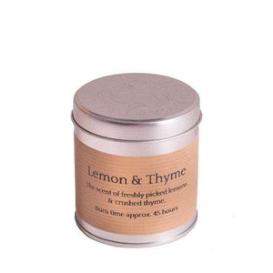 St Eval Candle Co - Lemon and Thyme scented tin