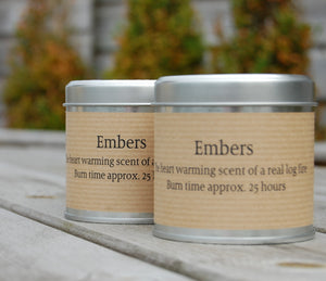 St Eval Candle Co - Embers Small Scented Tin Candle