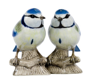 Quail - Blue Tit Salt and Pepper Set
