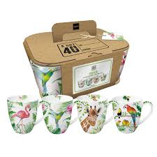 PPD - Set of 4 Tropical Mugs