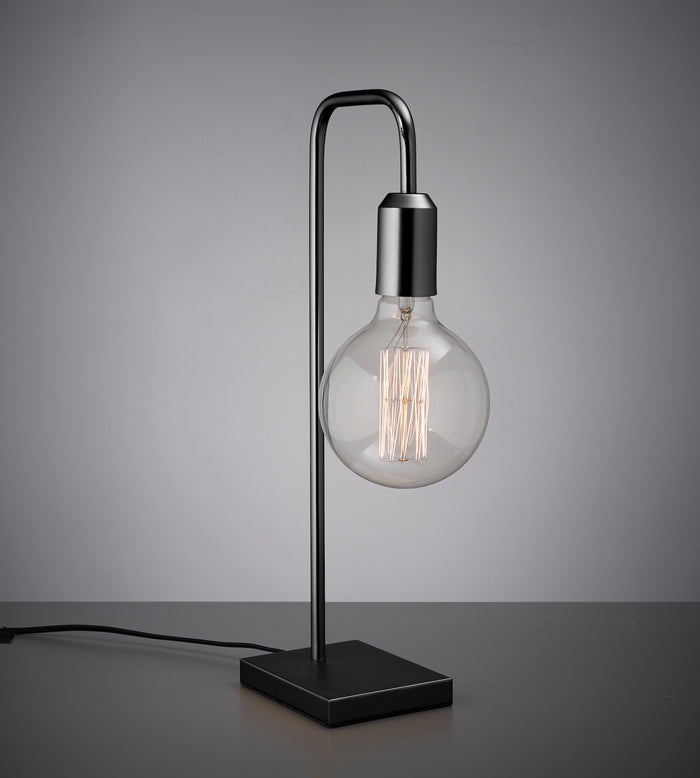 Amber Bright Tubular Table Light - Black - (bulb not included)