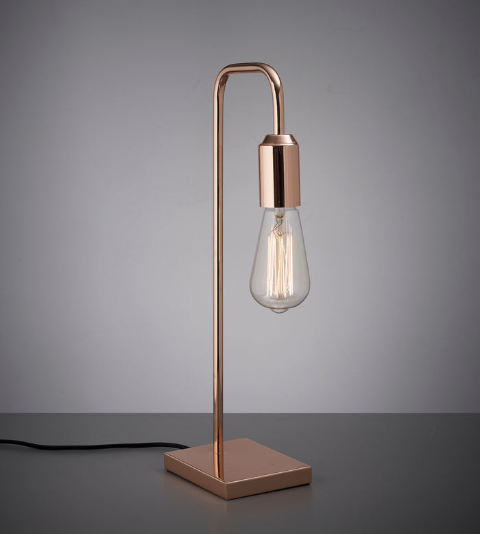 Amber Bright - Tubular Table Light Copper (bulb not included)