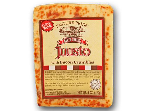 Juusto Baked Bread Cheese with Bacon