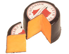 Load image into Gallery viewer, Cheddar Black Wax Wheel Three Pound