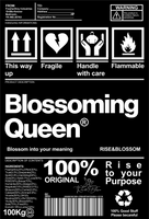 Rise & Blossom X Blossoming Queen Package Label