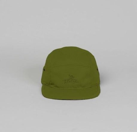 Olive Green 5 panel camper hat
