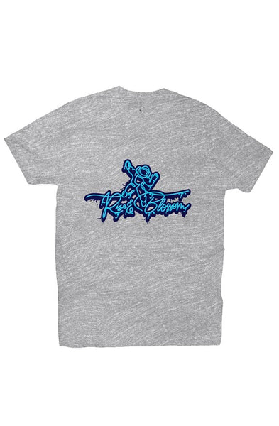 Grey/Blu Rise and Blossom Premium Crew