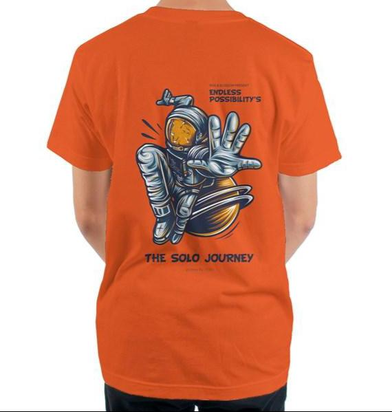 The Solo Journey Orange mens t shirt