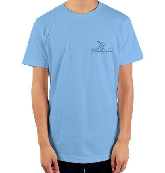 The Solo Journey Baby Blue  mens t shirt