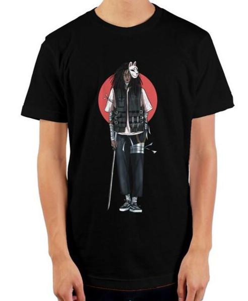 Black Anime DOPE ASF mens t shirt