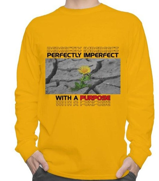 Perfect With A Purpose Gold long sleeve tee