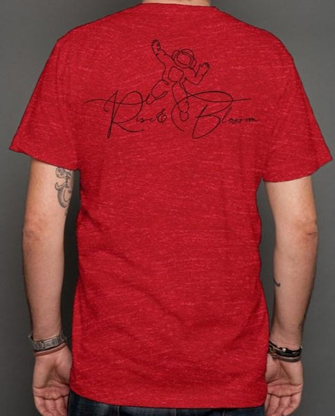 Rise and Blossom Red  t shirt