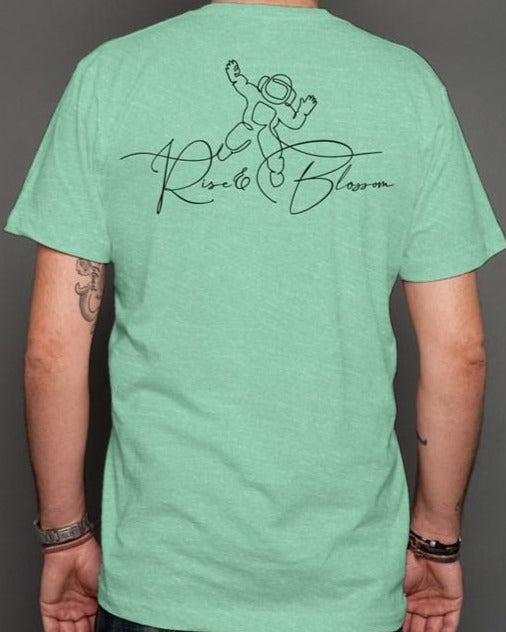 Rise and Blossom Mint t shirt