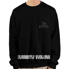 Load image into Gallery viewer, Currently Evolving Black heavy crewneck sweatshirt
