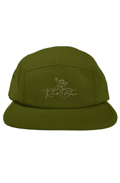 Olive Green White original 5 panel