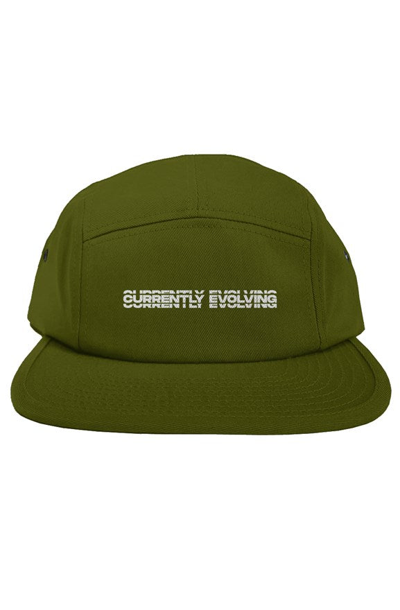 Currently Evolving Olive Green original 5 panel