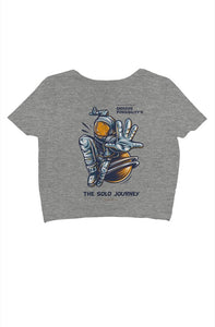 Rise & Blossom X The Solo Journey crop tee