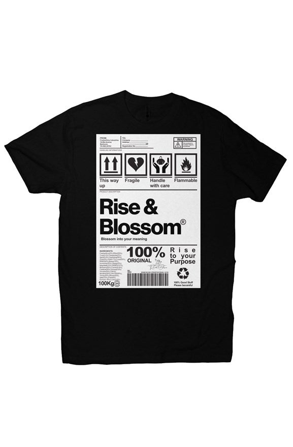 Rise & Blossom X Package Label
