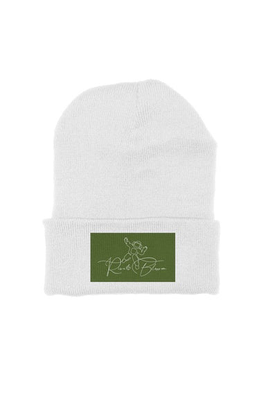 Rise&Blossom X Olive Green Patch Beanie