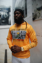 Load image into Gallery viewer, Rise & Blossom X Perfectly Imperfect with a Purpose Mustard Hoodie