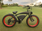 "The ""OG Red 2.0"" Fat Tire Beach Cruiser with front suspension"