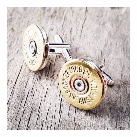 BRONZE WING 12 gauge Cufflinks
