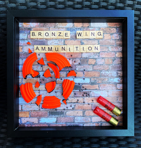 BRONZE WING AMMUNITION Scrabble Frame - Black