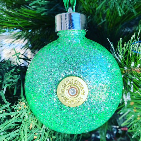 Christmas Bauble - Honeydew Green Sparkle