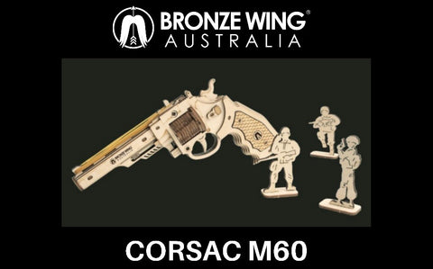 BRONZE WING Corsac M60 Rubber Band Revolver