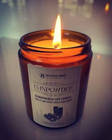BRONZE WING GUNPOWDER Scented Candle