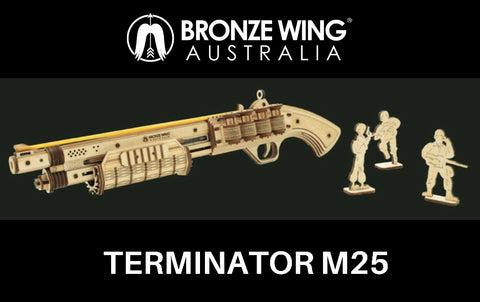BRONZE WING Terminator M25 Rubber Band Shotgun