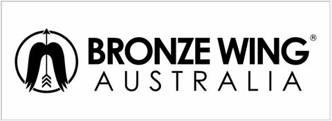 Sticker - BRONZE WING Australia (White)