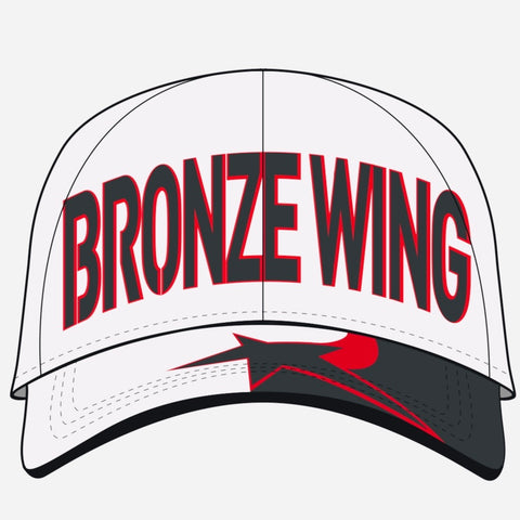 BRONZE WING Cap - WHITE BW Design