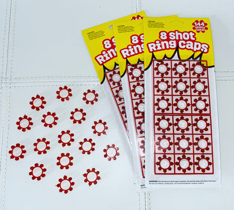 8 Shot Ring Cap Refill - 144 shot pack