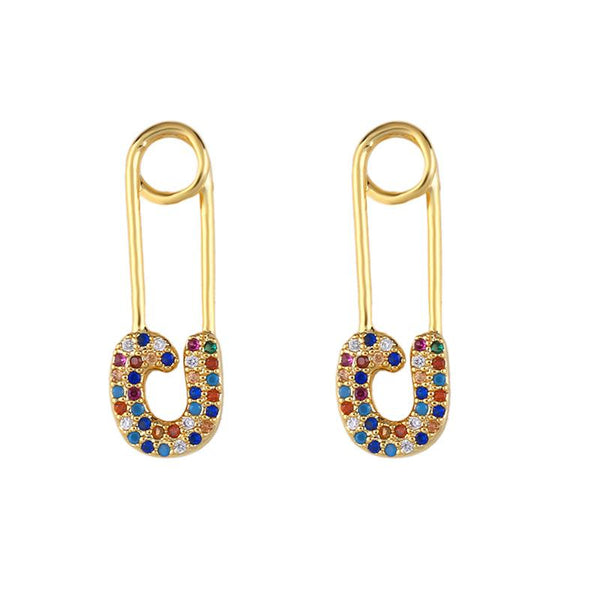 Multicolored Cubic Zirconia Earrings set - FashionBazzaar