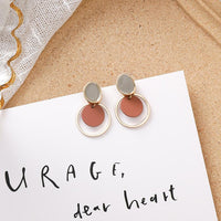 Sweet girl brown earrings set - FashionBazzaar