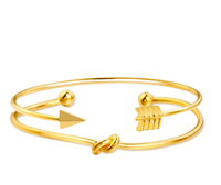 Gold Color Crystal Wedding Bangles - FashionBazzaar