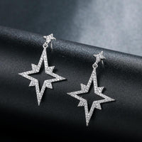 Two Feather Leaf Climber Stud Earrings - FashionBazzaar