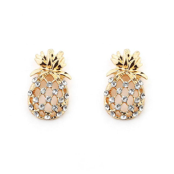 Hollow pineapple Stud earrings - FashionBazzaar