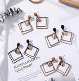 Geometry Long Drop Earrings set - FashionBazzaar