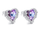 Angel Wings with Elements Crystal Stud Earrings - FashionBazzaar