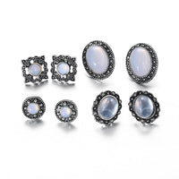 Cobblestone Opal Stud Earrings - FashionBazzaar